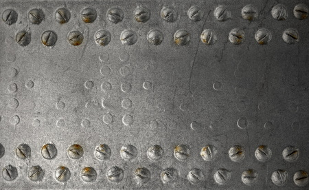 Iron background with rivets