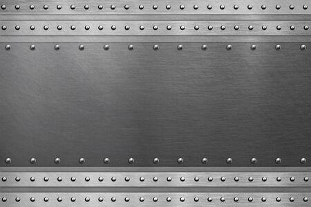 Metallic background, polished steel plate