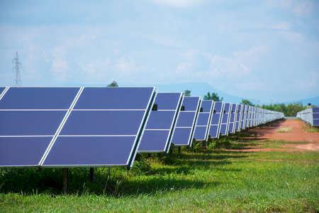 Solar Power in Thailand. Banco de Imagens