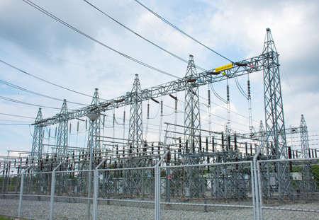 Power plant substation. Stock fotó