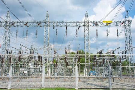 Power plant substation.