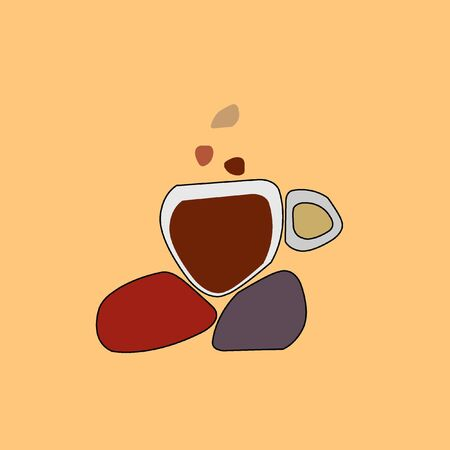 hot cup: cup of coffee on hot rocks