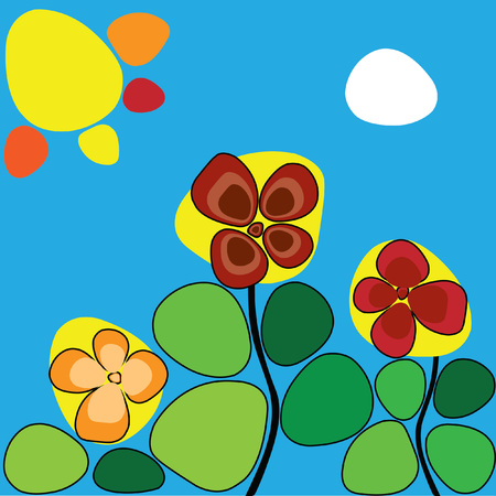 sun flowers: flowers under the hot sun