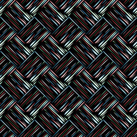 colored shapes on black background Illustration