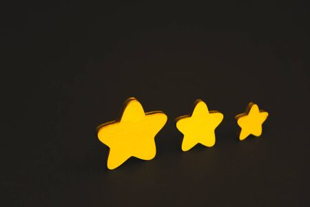 yellow stars on black background. 版權商用圖片