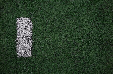 soccer field marking close up. Stockfoto