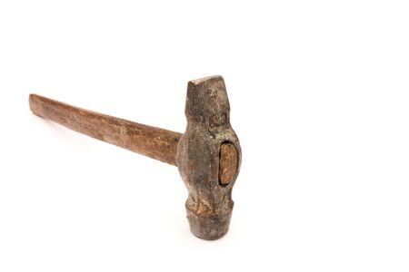 old Soviet hammer isolated on white background Imagens