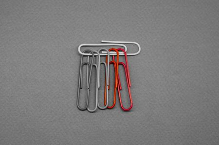 black and white photo paper clips with two two shades Reklamní fotografie