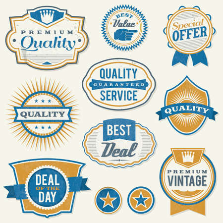 labels and badges  Illustrator Stock Vector - 18154160