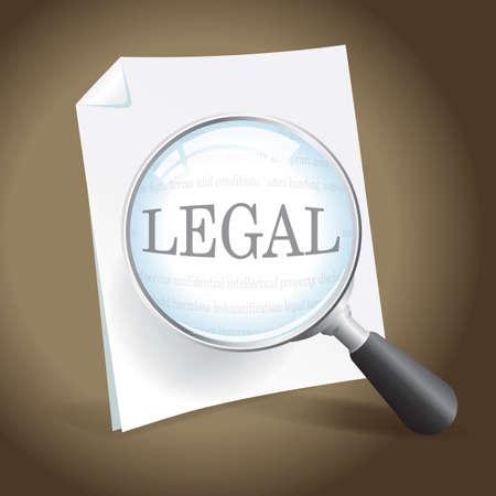 Het nemen van een kijkje op een juridisch document
