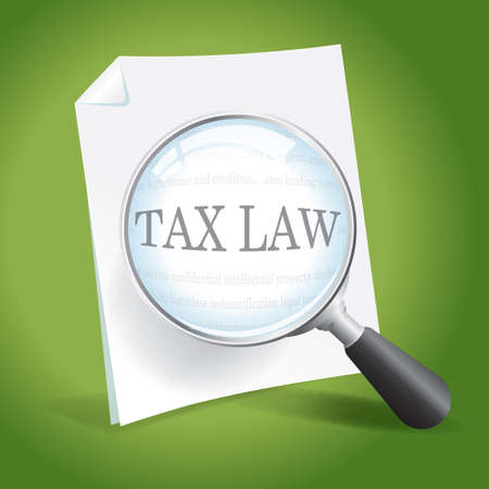 Taking a closer look at tax laws Stock Vector - 18358436
