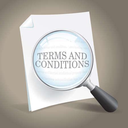법적 계약의 조건을 검사 일러스트