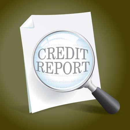 tarjeta de credito: Echando un vistazo a un informe de cr�dito Vectores