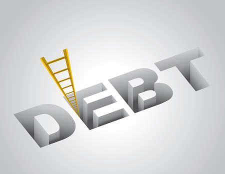 schuld: Klimmen uit de schulden begrip