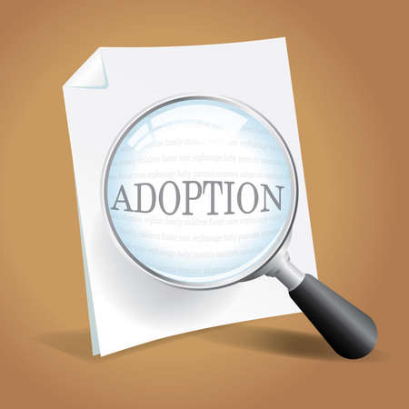 Taking a closer look at adoption options and paperwork Stock Vector - 18620684
