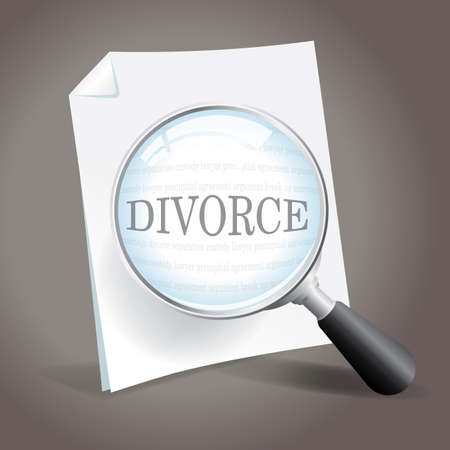 Examining divorce and failed marriage Stock Vector - 18620683
