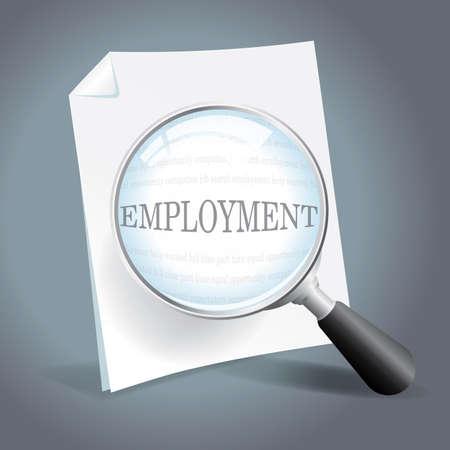 雇用機会を探してください。  イラスト・ベクター素材