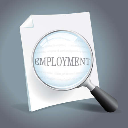 laid off: Looking for employment opportunities Illustration