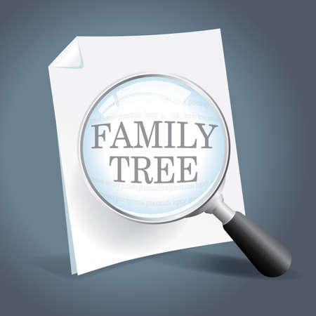 系譜と家族の木の詳しく見てを撮影  イラスト・ベクター素材