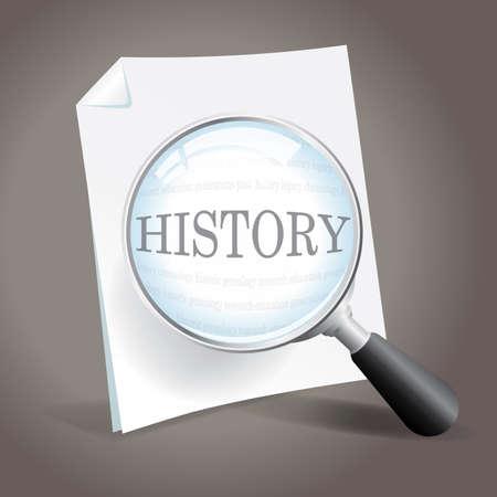 Taking a closer look at history Stock Vector - 18851295