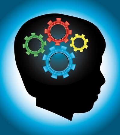 behaviours: El desarrollo del ni�o, el aprendizaje, la educaci�n, el comportamiento, el concepto de autismo Vectores