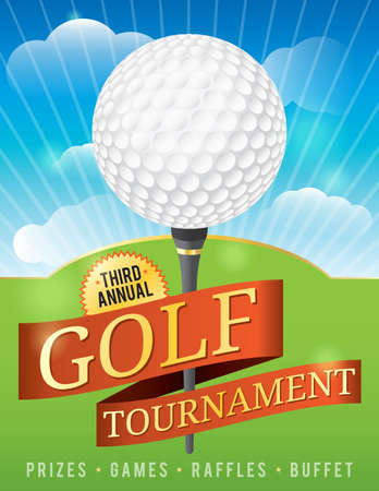 A nice design background for a golf tournament invitation or various golf designs available file contains transparencies and mask  is layered for easy addition and subtraction of elements  Vector