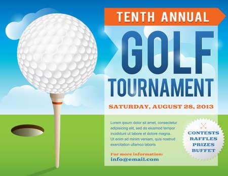 ゴルフ トーナメントの招待のための素敵なデザイン。