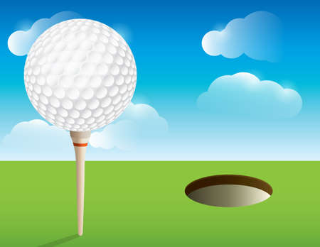 golf: A nice illustration for a golf tournament invitation, poster, golf flyer, and more.