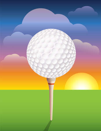 driving range: A nice design background for a golf tournament invitation, flyer, brochure, or various other golf designs.  Vector EPS 10 available. EPS file contains transparencies and mask. EPS is layered for easy addition and subtraction of elements.