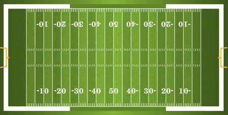 A vector grass textured American football field. EPS 10. File contains transparencies.  Vector