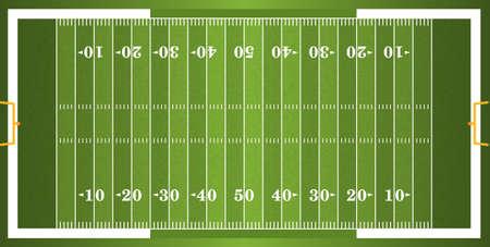 Een vector gras geweven American football veld. EPS-10. Bestand bevat transparanten.