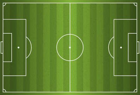 A realistic textured grass football / soccer field Illustration