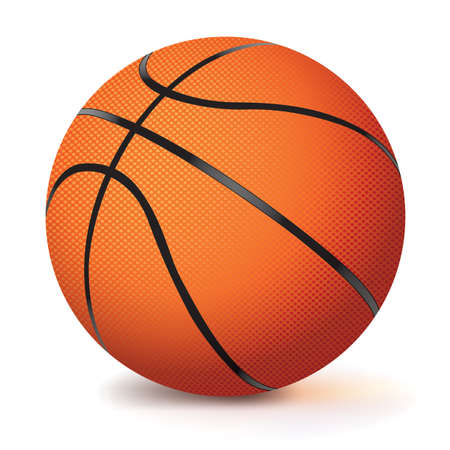 A vector basketball isolated on a white background.  Vector