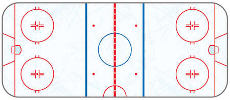 A realistic ice hockey rink with hatched skate marks. EPS 10. File contains transparencies. Ilustrace