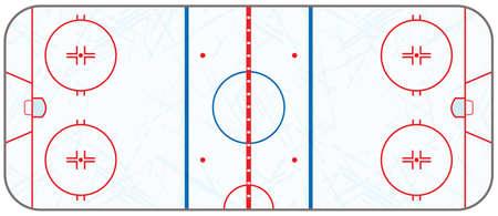 hockey rink: Una pista de hockey sobre hielo realista de marcas de patines nacidos. EPS 10. El archivo contiene las transparencias.