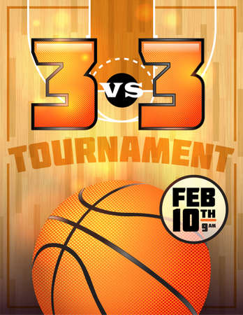 A basketball tournament flyer or poster perfect for basketball announcements, games, tournaments, camps, and more. Vector EPS 10 available. EPS file is layered for easy separation of text from the background. EPS contains transparencies. Stock Vector - 25481286