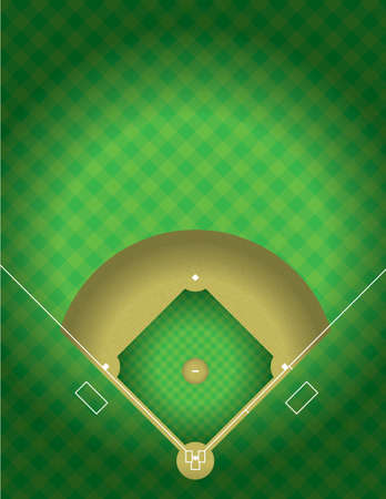 A vector illustration of the arial view of a baseball field. EPS 10. File contains transparencies.