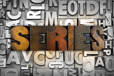 The word SERIES written in vintage letterpress type