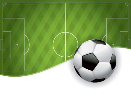 soccer field: An illustration of a football American soccer field background and ball. Illustration
