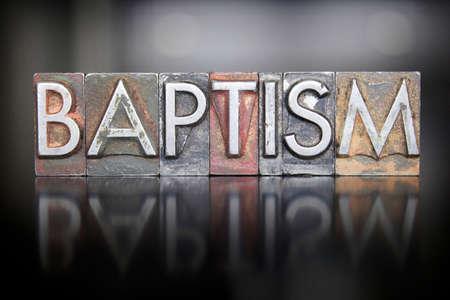 baptism: La palabra bautismo escrito en tipo de tipograf�a de �poca