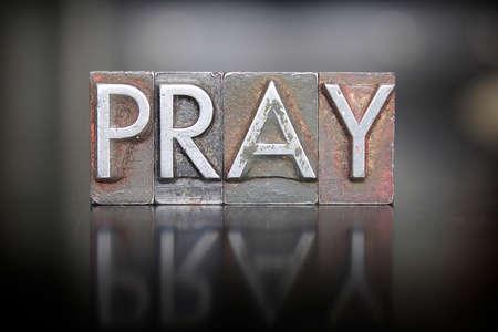 ビンテージ リード活版印刷で書かれた祈りの言葉