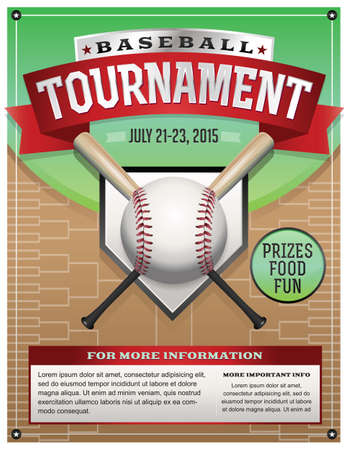 Baseball Tournament Illustration. Vector EPS 10 available. EPS file contains transparencies and gradient mesh.