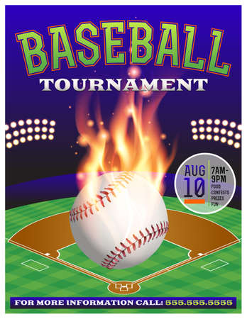 fastball: An illustration for a baseball tournament. Vector EPS 10 available. EPS file contains transparencies.  Fonts have been converted to outlines.  Fonts used: Rex: http:www.fontsquirrel.comfontsrex Goblin: http:www.fontsquirrel.comfontsgoblin