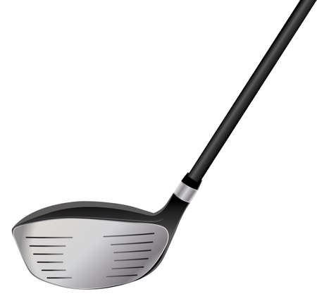白で隔離ゴルフ ドライバーのイラスト。ベクター EPS 10 利用できます。EPS ファイルには、透明度が含まれています。