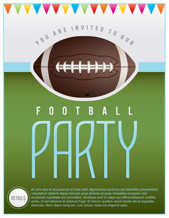 A flyer design perfect for tailgate parties, football invites, etc.  Fonts used: http:www.fontsquirrel.comfontstulpen-one Bebas: http:www.fontsquirrel.comfontsbebas Illustration