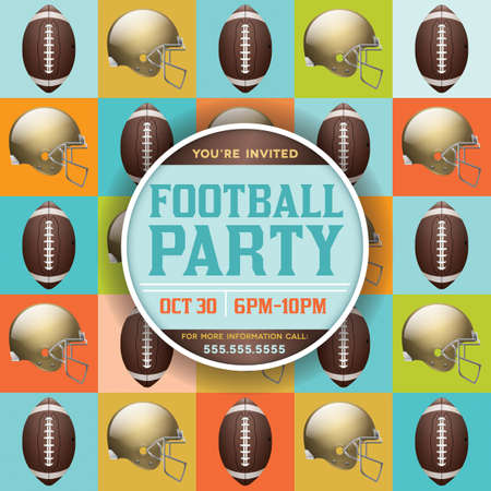 A flyer design perfect for tailgate parties, football invites, etc. EPS 10 available. EPS file contains transparencies. Text has been converted to outlines.