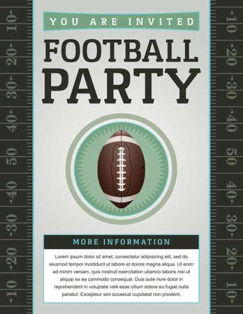 Een American Football flyer ontwerp perfect voor achterklep partijen, voetbal nodigt, enz.