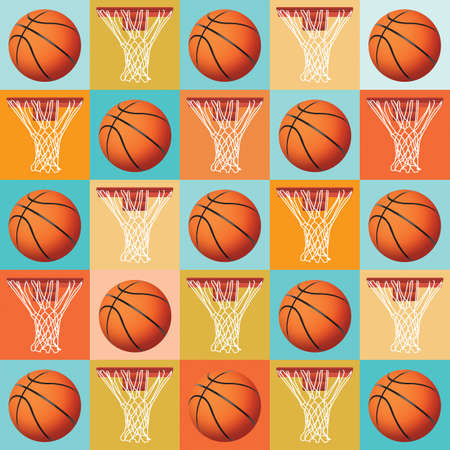 A basketball pattern background. Vector EPS 10 available. EPS contains transparencies. Stock Vector - 30695116