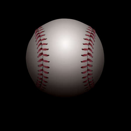 minor: An illustration of a realistic baseball set in shadows. Room for copy. Vector EPS file available. EPS contains transparencies and gradient mesh. Illustration