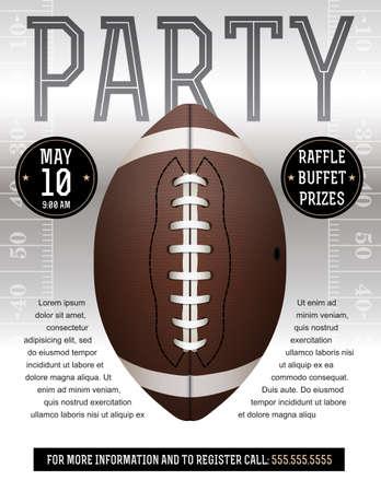 アメリカン フットボール チラシ デザイン サッカー招待テールゲート パーティー等に最適。EPS の 10 が利用できます。EPS ファイルには、透明度が含  イラスト・ベクター素材